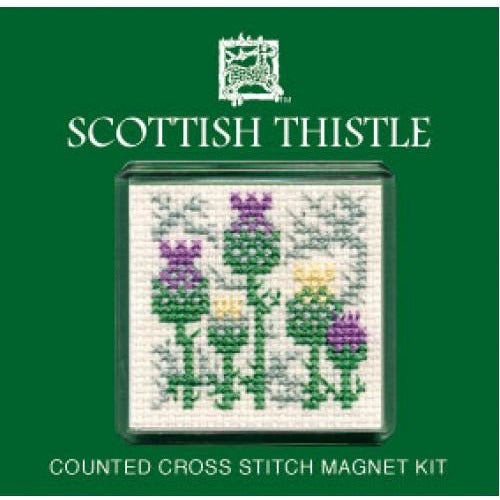 Textile Heritage Scottish Thistle Fridge Refrigerator Magnet Cross Stitch Kit