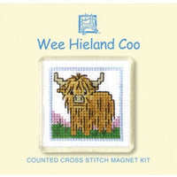 Textile Heritage Wee Hieland Coo Refrigerator Magnet Cross Stitch Kit