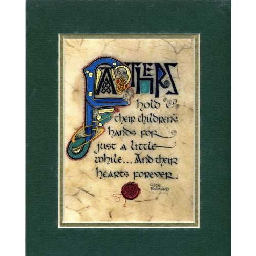 Celtic Card Company Matted Print Fathers Celtic Proverb