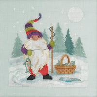 Mill Hill Fishing Gnome Bead & Counted Cross Stitch Kit