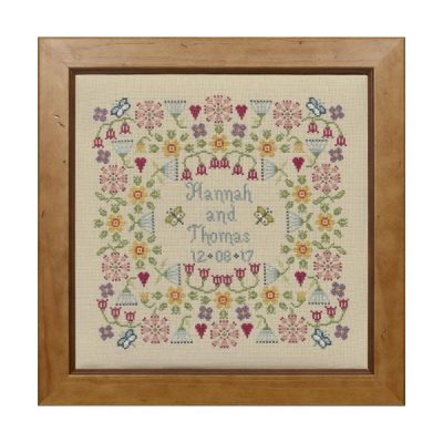 Flower Wedding Sampler Cross Stitch Pattern