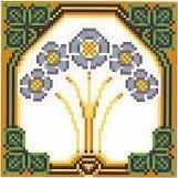 Landmark Tapestries & Charts Arts & Crafts Forget-Me-Knot Pincushion Cross Stitch Pattern