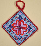 Frony Ritter Celtic Series Valentine Hearts Cross Stitch Pattern