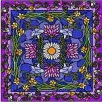 Garden at Midnight Pillow Cross Stitch Pattern