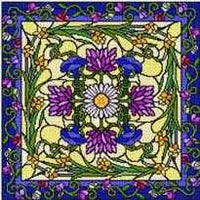 Garden at Daybreak Pillow Cross Stitch Pattern