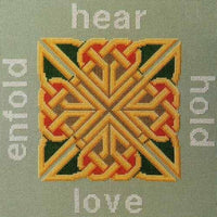 Great Bear Canada - Hear, Hold, Love, Enfold-  Celtic Cross Stitch Pattern