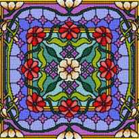 Landmark Tapestries & Charts Colored Glass Pillows - Soothing - Cross Stitch Pattern