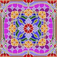 Landmark Tapestries & Charts Colored Glass Pillows - Enriching - Cross Stitch Pattern