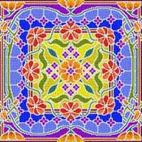 Landmark Tapestries & Charts Colored Glass Pillows - Brightening - Cross Stitch Pattern