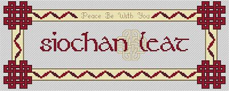 Artists Alley Gaelic: Peace Be With You Cross Stitch Pattern