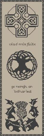 Artists Alley Gaelic Welcome Cross Stitch Pattern