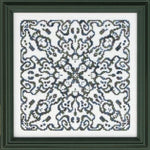 Ink Circles A Ghostly Mandala Cross Stitch Pattern