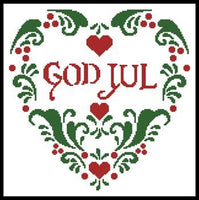 Artecy God Jul (Merry Christmas) Cross Stitch Pattern