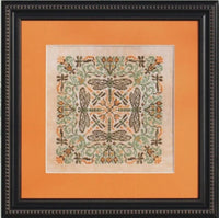 Ink Circles Green Damsel Cross Stitch Pattern