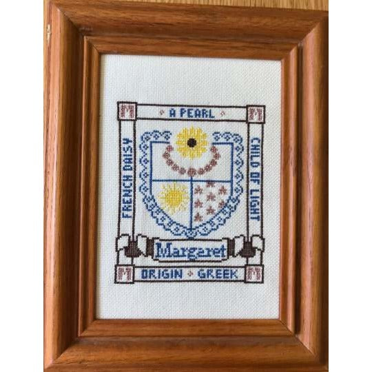 First Name Crest Cross Stitch Pattern Initials A-G