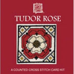 Textile Heritage Tudor Rose Miniature Card Cross Stitch Kit