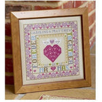 Historical Sampler Company Bird & Heart Wedding Sampler Cross Stitch Pattern
