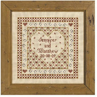Historical Sampler Company Heart Wedding Sampler Cross Stitch Pattern
