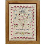 Historical Sampler Company Swag & Heart Wedding Sampler Cross Stitch Pattern