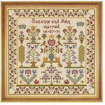 Historical Sampler Company Wedding Pot Sampler Cross Stitch Pattern