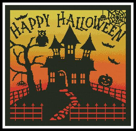 Artecy Halloween House Square Cross Stitch Pattern