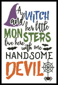 Artecy Halloween Quote - #14124 Cross Stitch Pattern