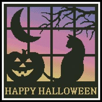 Artecy Halloween Square 1 Cross Stitch Pattern
