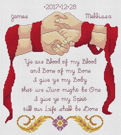 Artists Alley Handfasting Keepsake Cross Stitch Pattern