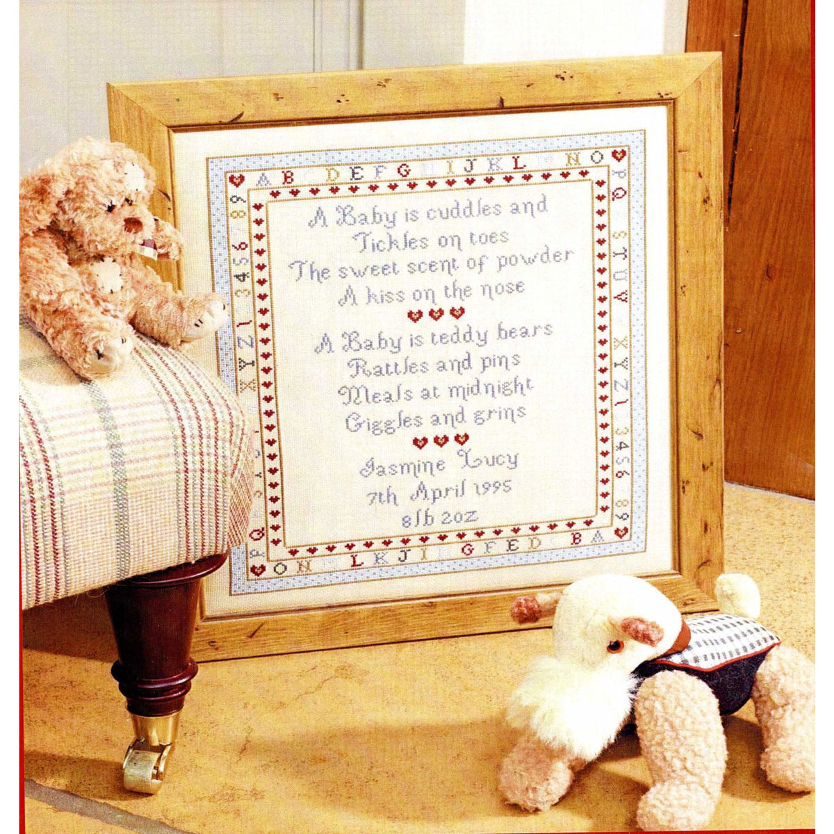 Baby's Are Birth Sampler Cross Stitch Pattern
