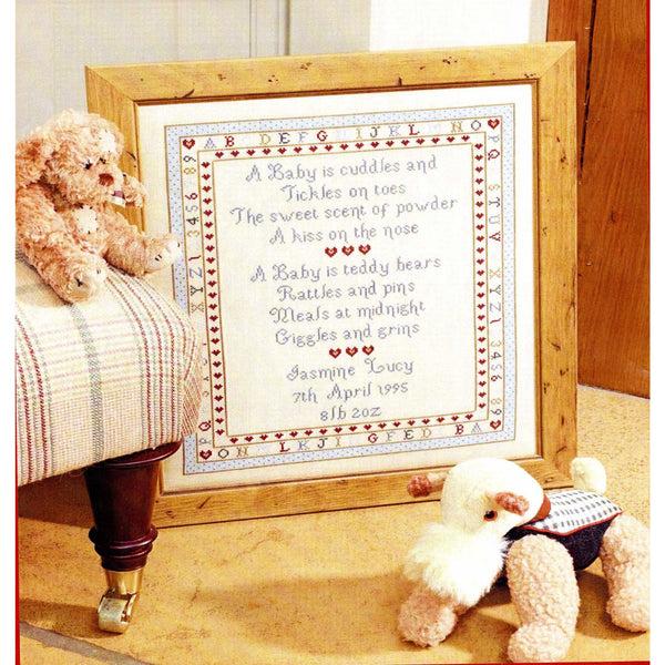 Historical Sampler Company Baby's Are Birth Sampler Cross Stitch Pattern