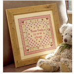 Historical Sampler Company Heart Birth Sampler Cross Stitch Pattern