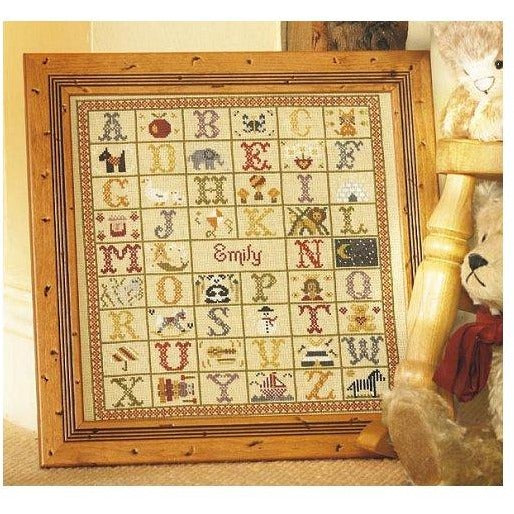 Historical Sampler Company A-Z Birth Sampler Cross Stitch Pattern