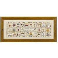 Historical Sampler Company Just For a Boy Birth Sampler Cross Stitch Pattern