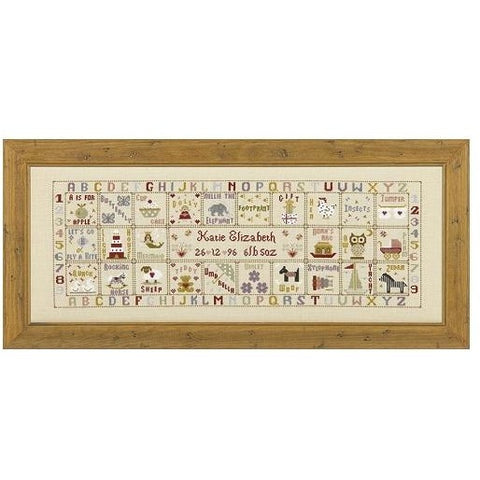 Historical Sampler Company Just For a Girl Birth Sampler Cross Stitch Pattern