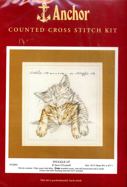 Snuggle Up Counted Cross Stitch Kit