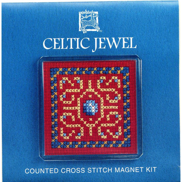 Textile Heritage Celtic Jewel Refrigerator Magnet Cross Stitch Kit