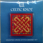 Textile Heritage Celtic Knot Refrigerator Magnet Cross Stitch Kit