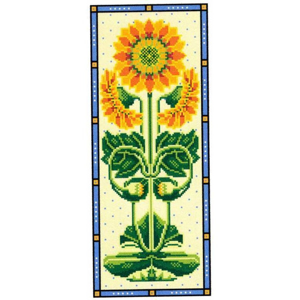 Long Sunflower Cross Stitch Pattern
