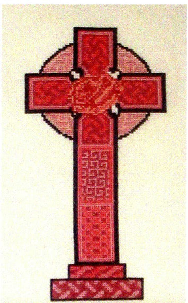 Celtic Obsessions Cashel Celtic Cross with Rose - Cross Stitch Pattern