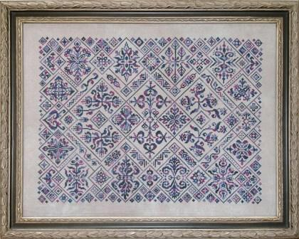 Ink Circles Cirque des Carreaux Cross Stitch Pattern