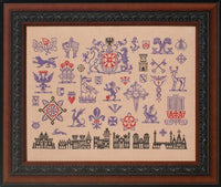Ink Circles Much Heralded Sampler Cross Stitch Pattern