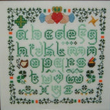 Claddagh Cross Stitch Irish Traditions Sampler Pattern