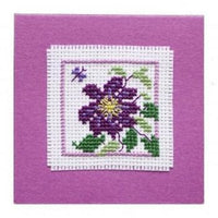 Textile Heritage Clematis Keepsake Cross Stitch Kit