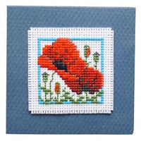 Textile Heritage Poppies Keepsake Cross Stitch Kit