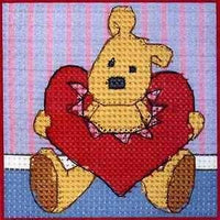 Binca Cross stitch Kit Newton's Law Hearts For You Cross Stitch Kit
