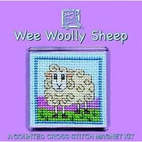 Textile Heritage Wee Wooly Sheep Refrigerator Magnet Cross Stitch Kit