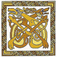 Celtic Hounds Cross Stitch Pattern