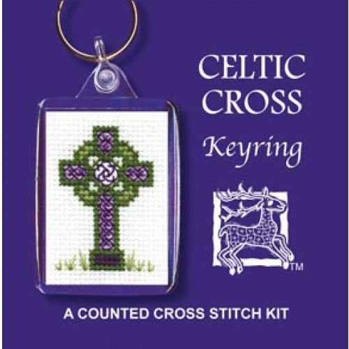 Textile Heritage Celtic Cross Keyring Cross Stitch Kit