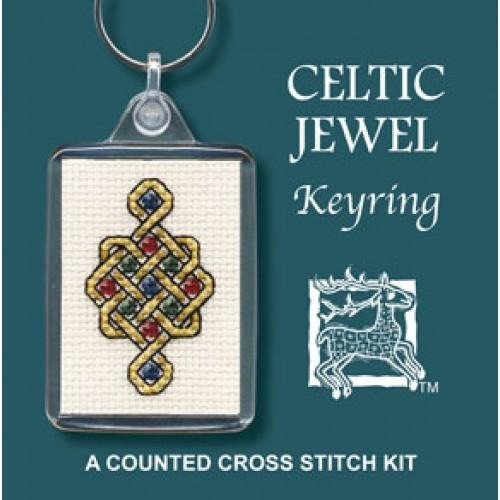 Textile Heritage Celtic Jewel Keyring Cross Stitch Kit