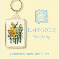 Textile Heritage Daffodils Keyring Cross Stitch Kit